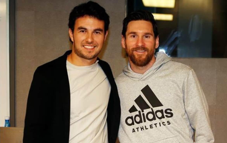 Checo Pérez con Lionel Messi.