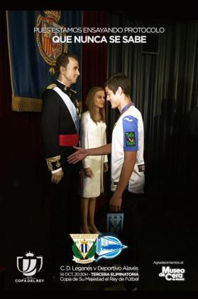 Mantovani saluda a Felipe VI en su visita al Museo de Cera