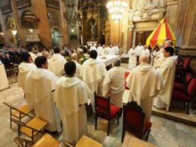 Un grupo grande de sacerdotes de la Provincia Mercedaria de Aragón estuvo presente en el Encuentro de Seglares 2018.