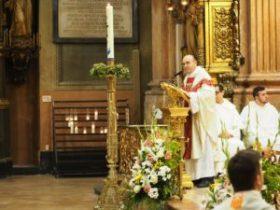 El Padre José Juan Galve celebró la Eucaristía.