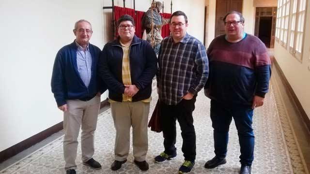 Los cuatro sacerdotes de la Provincia Mercedaria de Aragón, en España, que asistieron al encuentro sobre discernimiento espiritual, en el Seminario de Barcelona.