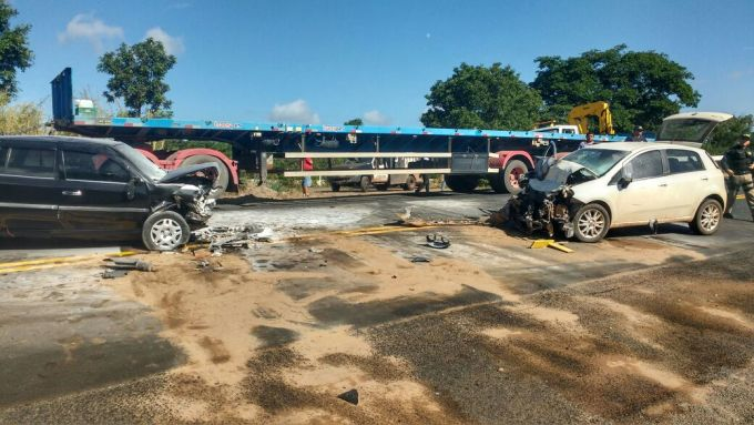 colisão frontal na br-316 teresina acidente vereador servi-san