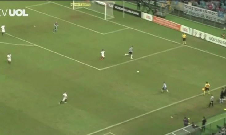 Grêmio Santos gols Maicon Arena