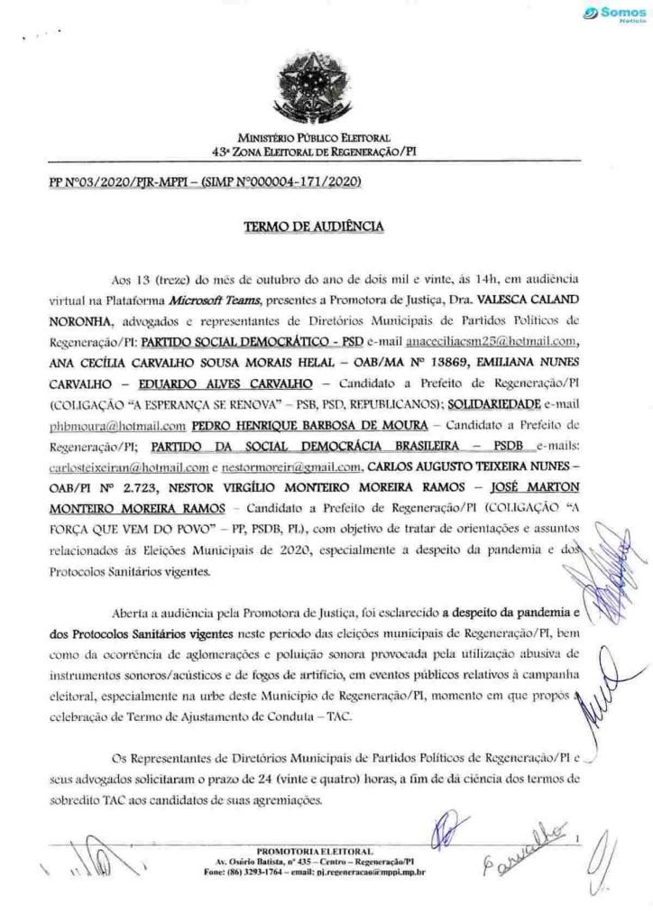image 0 compressed Ministério Público cria regras para eventos de campanha política em Regeneração