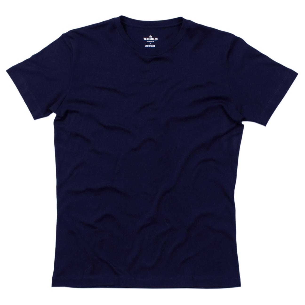 Franela azul verticales