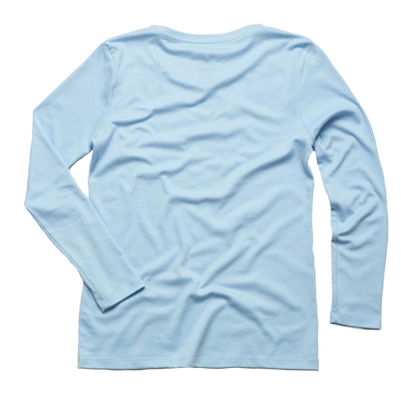 Franela basica Verticales caballero manga larga azul claro