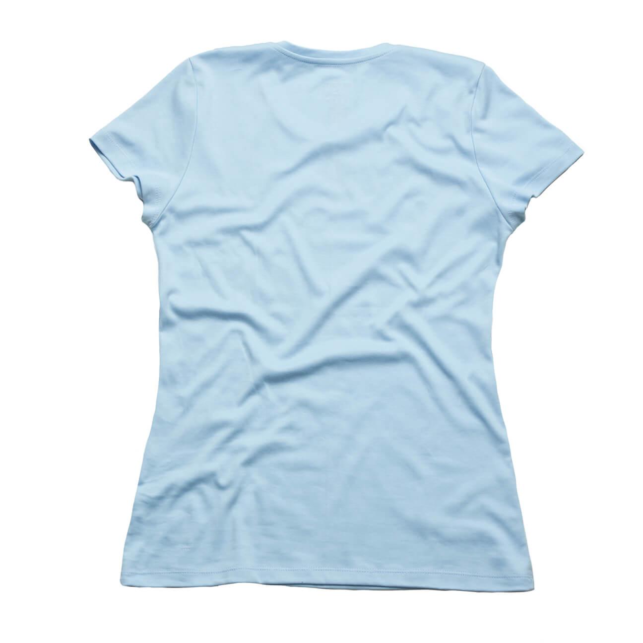Franela basica Verticales damas cuello redondo azul claro espalda