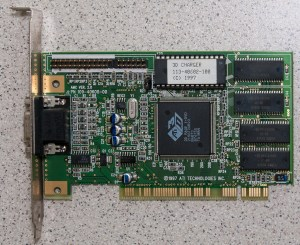 ATi Rage3D ii+ PCI graphics card