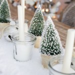 Christmas Tour Dining Room Diy Snowy Centrepiece Video So Much Better With Age