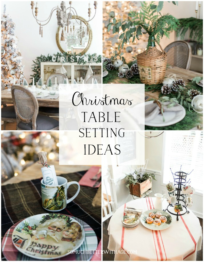 beautiful christmas table setting ideas