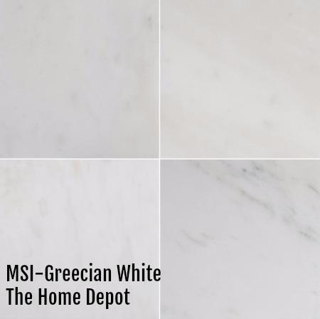 faux carrara marble porcelain tile so