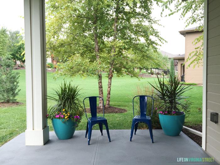 10 painted concrete patio floor ideas
