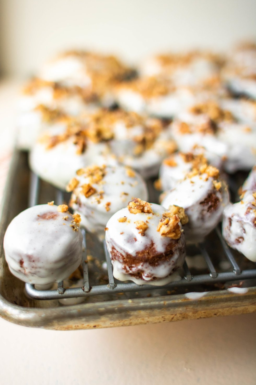 carrot cake old fashioned donuts