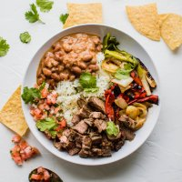 chipotle copycat carne asada steak bowl
