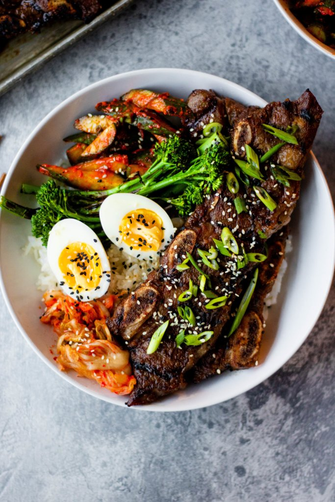 korean bbq short rib bowls