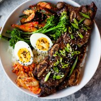 korean bbq short rib (kalbi) bowls