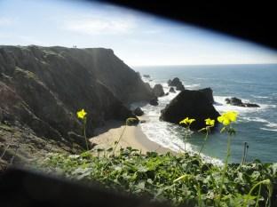 Cliffs & Coast Through Fence