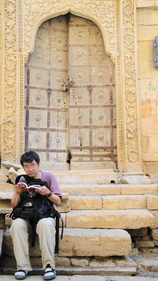 Gene at Work by Ornate Door