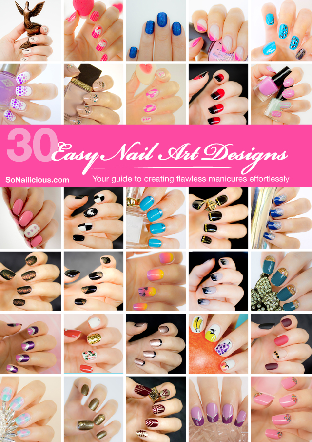 30 Easy Nail Art Designs And Tutorials Book By Sonailicious Site