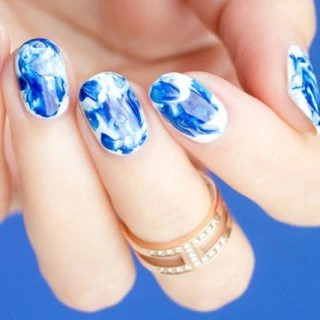 Tutorial Marble Nail Art