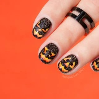 Nails Of The Day Vicious Pumpkin Nail Art
