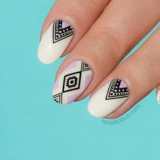 Tutorial How To Do Aztec Nails In 5 Minutes