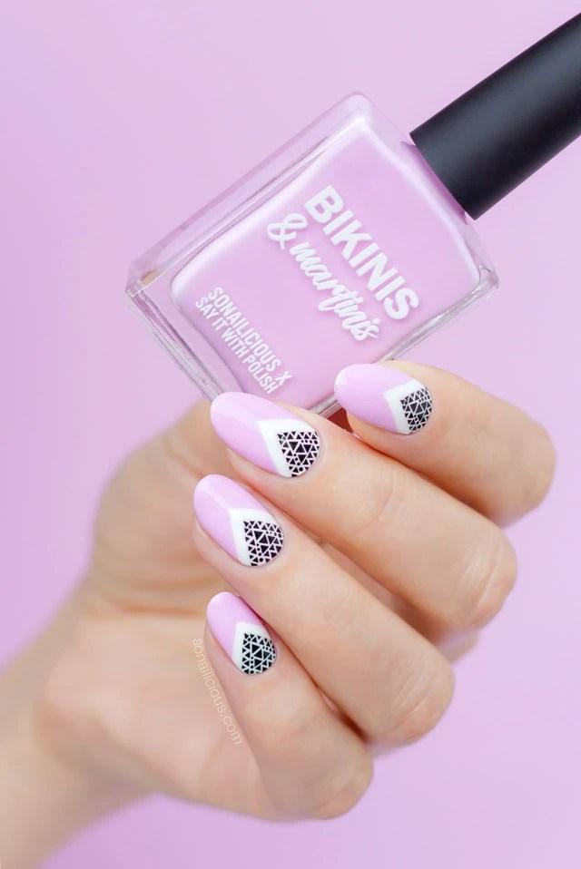 pink nail design, bikinis and martinis