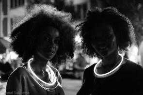 Illuminated with light rings, Flux Night, Atlanta, GA