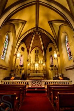 Inside the Loretto Chapel