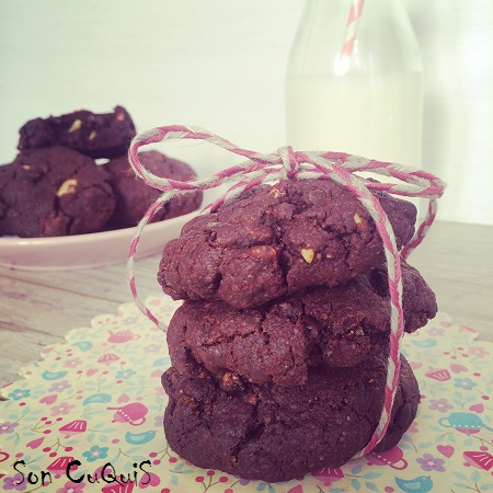 Receta cookies a los tres chocolates -son cuquis Bakery