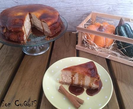 Receta de Tarta de queso y calabaza