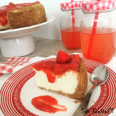 Receta de New York cheesecake porción-Son CuQuiS