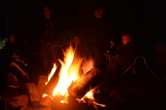 People around Fire