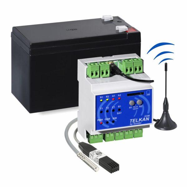 Kit Telkan 2 GSM Humedad + Temperatura