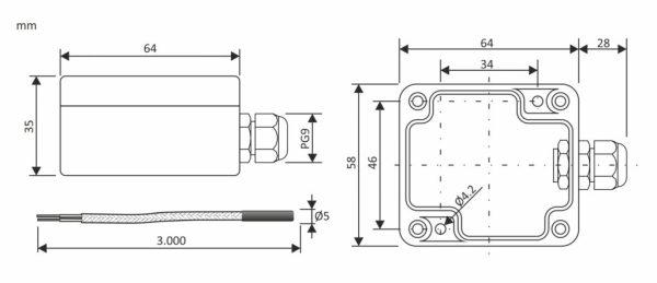medidas Sensor SFA 03