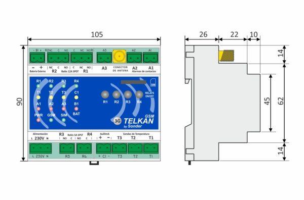 medias del control telkan 4 GSM