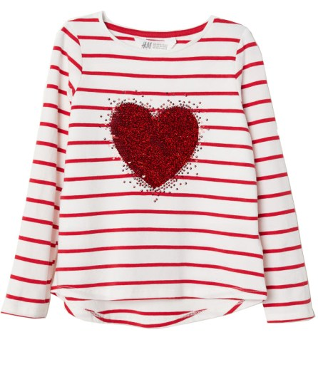 HM_Sequin Heart Kids Tee