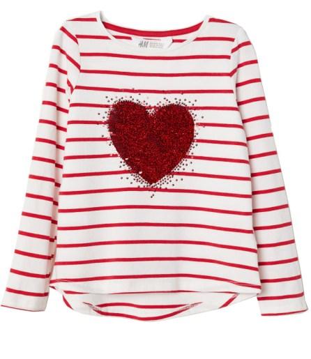 HM_Sequin Heart Kids Tee