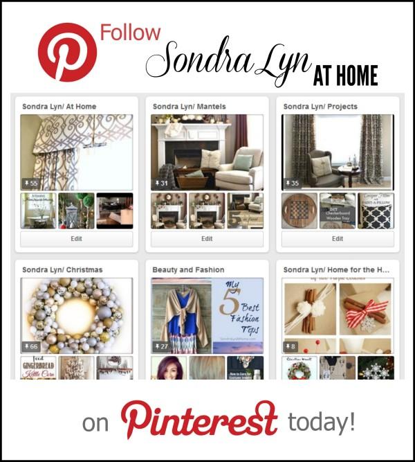 Pinterest - Sondra Lyn at Home.com