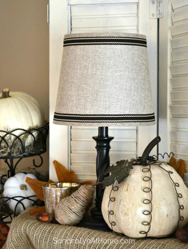 Fall Mantel 2015 - detail - Sondra Lyn at Home.com