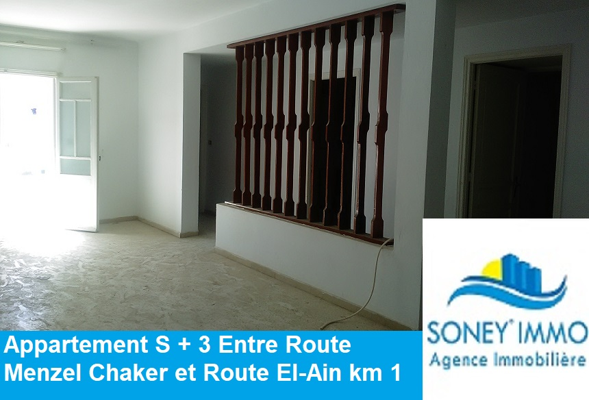 Appartement S + 3 route Menzel chaker km 1