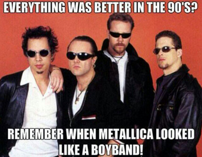 meme metallica boy band