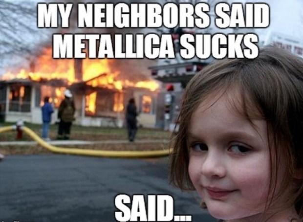 metallica girl fire meme