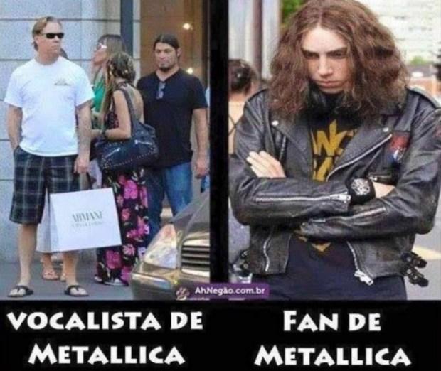 vocalist and fan metallica meme