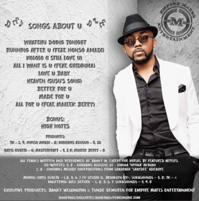 Music: Banky W - Running After U ft. Nonso Amadi