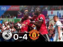 VIDEO: SWANSEA VS MANCHESTER UNITED 0-4 HIGHLIGHT & GOALS PREMIER LEAGUE 13-08-2017
