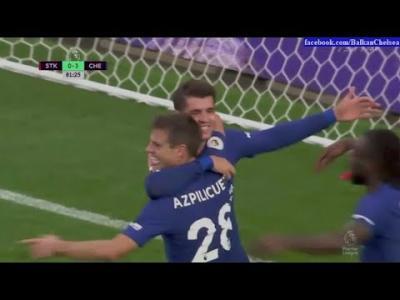 VIDEO : Alvaro Morata Hattrick Goal - Stoke City vs Chelsea - 23/09/2017