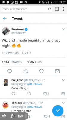 Runtown and Wizkid set to Drop New Song… (See Full Details)