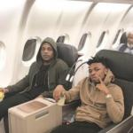 Reactions As Wole Soyinka Photobombs Mayorkun and LAX Picture