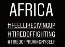 Feel Like Giving Up - Tiwa Savage Breaks Down On Instagram